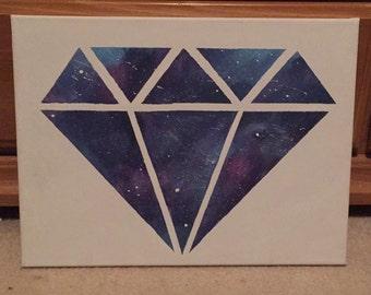 GALAXY DIAMOND CANVAS - Hand Painted Canvas Wall Art/Decor