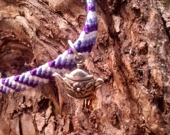 Lilac: Collectible fairy friendship bracelet with charm