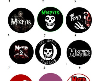 Misfits Pin Collection- Misfits Homemade Pins