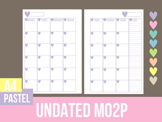 Undated Weekly Calendar : A undated monthly calendar mo p printable by