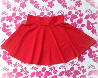 Woman Summer Flared Little Skirt in Red or Coral,Mini skirt, Summer Mini Skirt, Skater Mini Skirt, Party Skirt,Casual little skirt,Red Skirt
