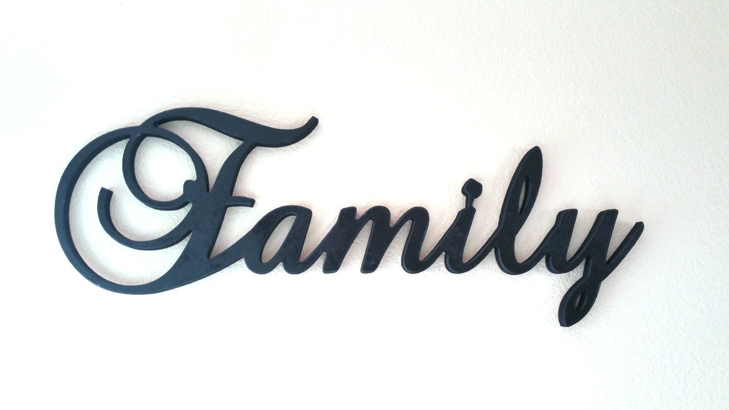 Large Wooden Family Sign Wall Hanging Family By Letteredwhimsy