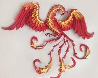 Phoenix bird,Phoenix decor,bird of Paradise,fire bird figurine,fire bird statuette,firebird sculpture