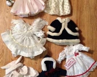 Vintage Doll Dresses - LOT 7