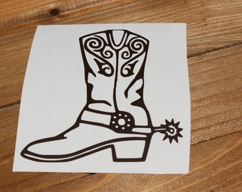 Cowboy | Cowgirl Boot Vinyl Decal