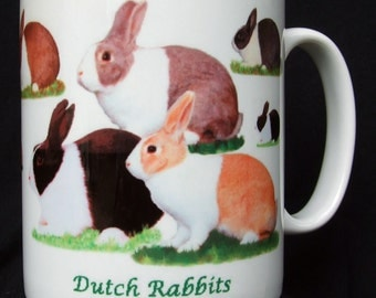 Dutch Rabbit, Ceramic Mugs
