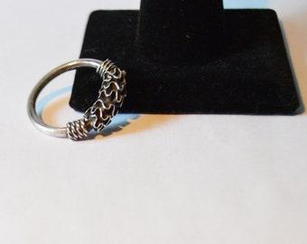 Sterling Silver 1980's Bali Design Ring