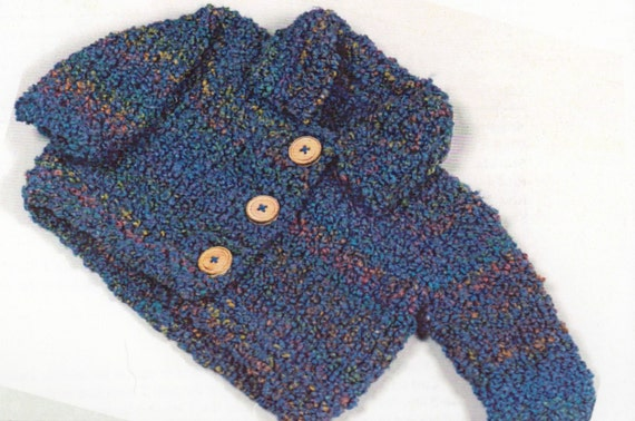 Toddler Jacket with Hood Knitting Pattern Rimini Rainbow