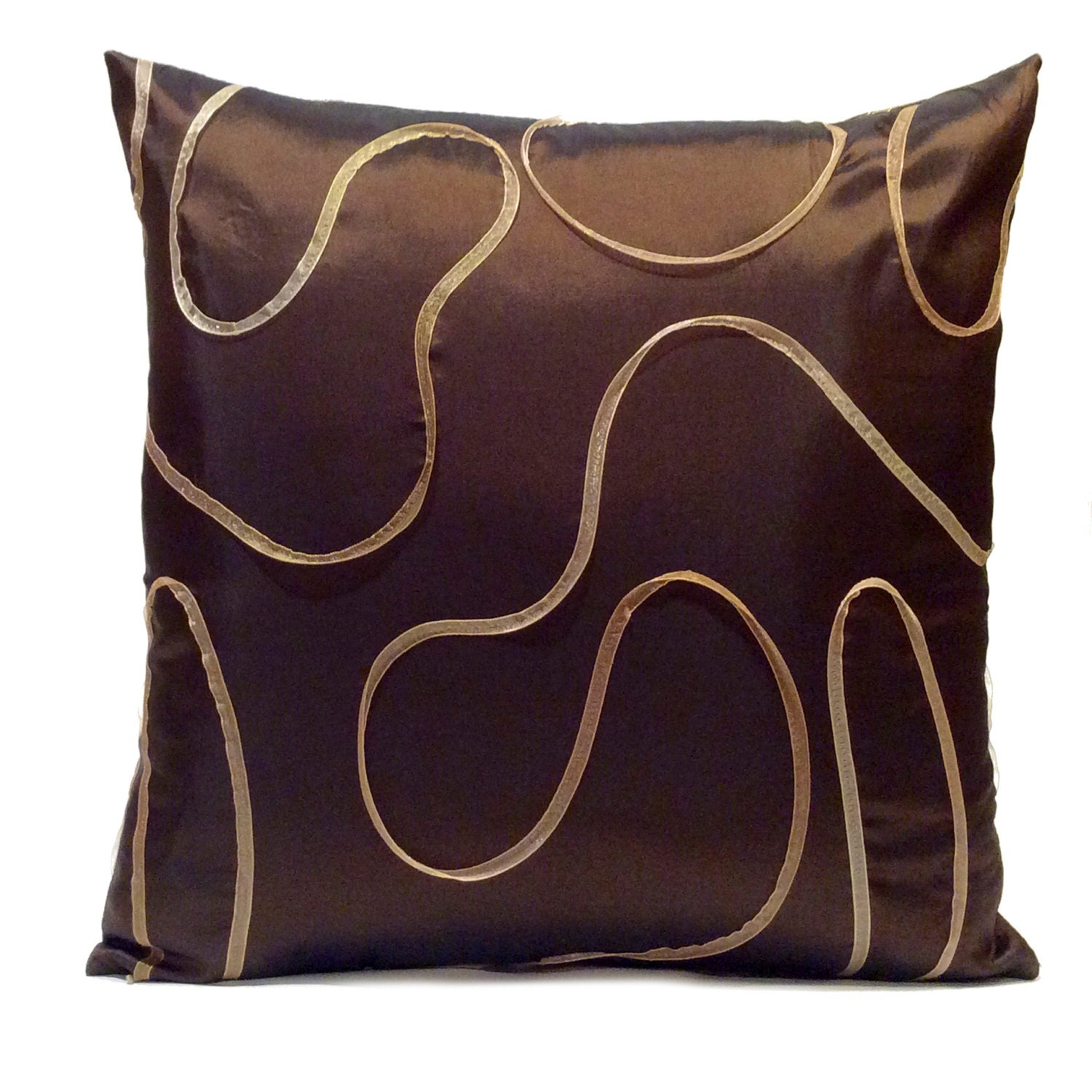 Dark Chocolate Brown Pillow Throw Pillow Cover Decorative
