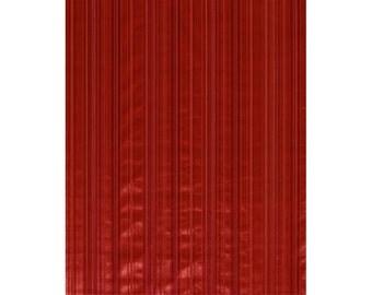 BRUNSCHWIG & FILS SILK Velvet Stripe Fabric 10 Yards Red