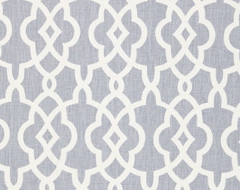 SCHUMACHER CHINOISERIE FRETWORKS Trellis Linen Fabric 10 yards Wisteria