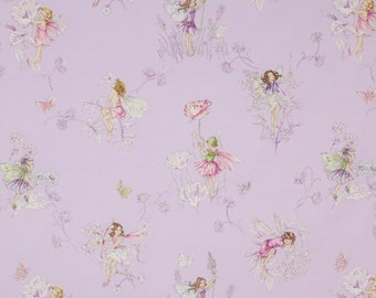 COWTAN & TOUT WHIMSICAL Fairy Tales Flower Fairies Fabric 10 Yards Lilac Rose Multi
