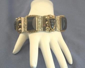 Black onyx & silver bracelet Mexico