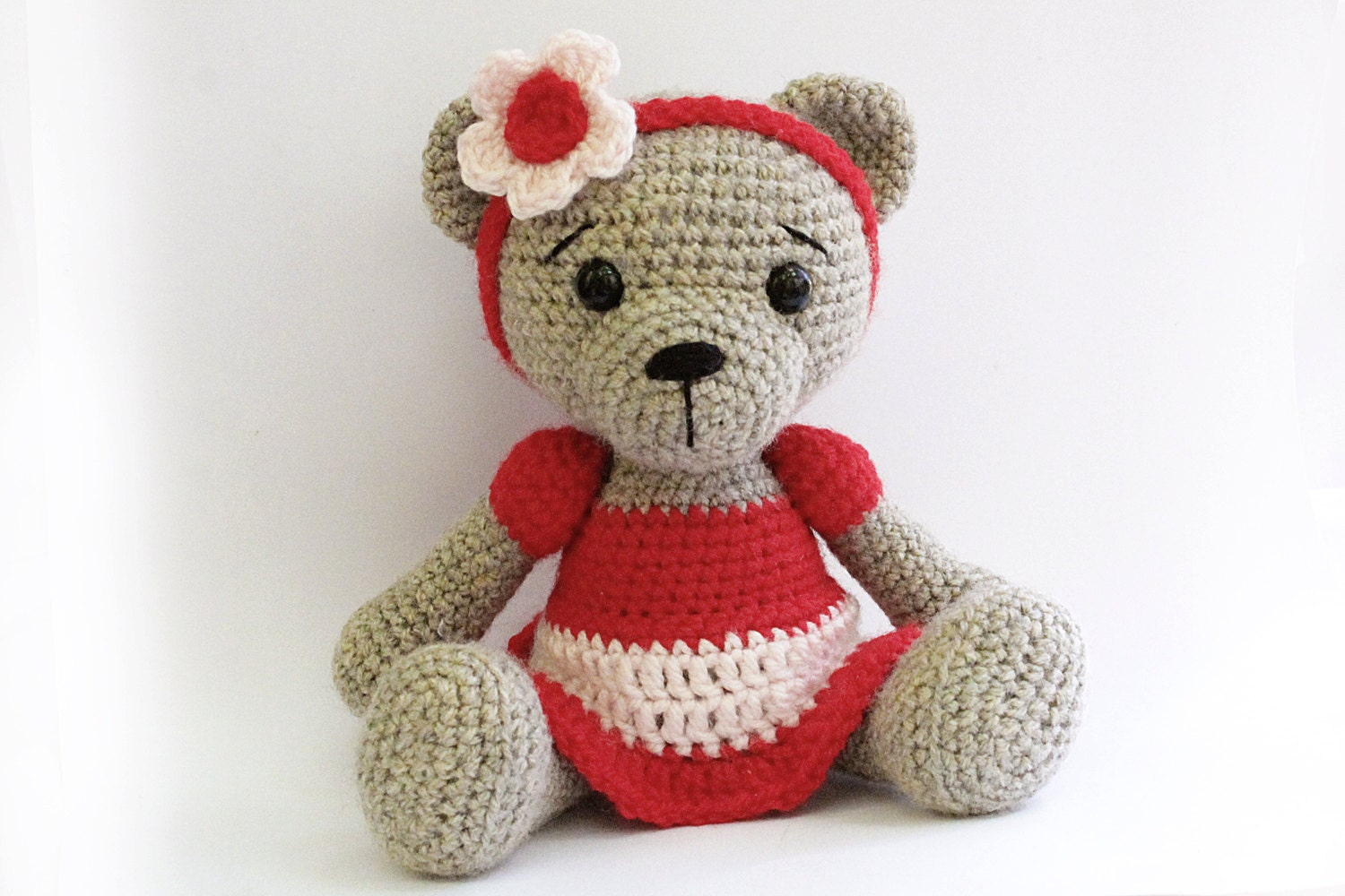 PATTERN : Bear teddy Bear Girl-Amigurumi bear