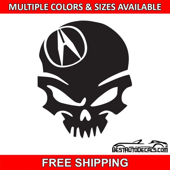 Acura Logo: Acura Logo Skull Bad Vinyl Sticker Decal JDM By BestAutoDecals