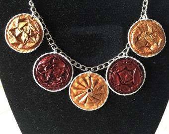 Upcycled Nespresso Statement Necklace, Recycled Repurposed Coffee Capsules, Nespresso Jewelry