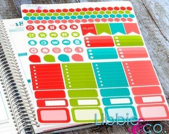 Swirl Pop Weekly Planner Kit!!!  Set of 110 Perfect for the Erin Condren Planner!!! LK77