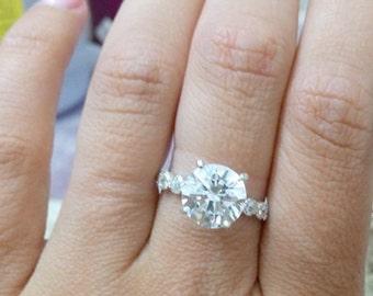 SALE! Silver clear quartz ring, statement ring, gemstone ring, crystal ring, wedding ring, bridal jewelry,birthday gift