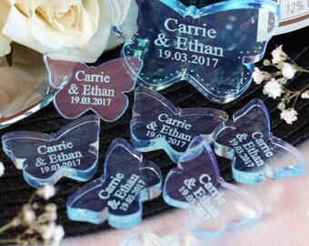 Personalised Mr & Mrs Love Butterflies Wedding Table Decorations