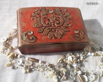 "Shabby chic JEWELLERY BOX ""Oriental treasure"""
