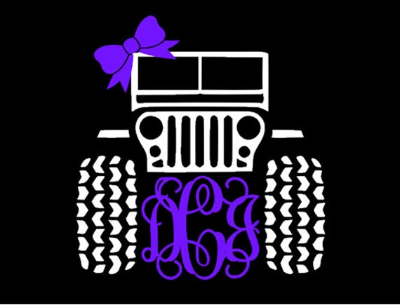 Items Similar To Jeep Monogram With Bow Decal 5 Inch X 5