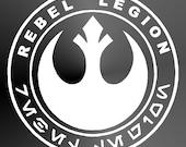 Decal Sticker Cut Vinyl Car Truck Jeep Window Decal Cut Vinyl Star Wars Rebel Legion