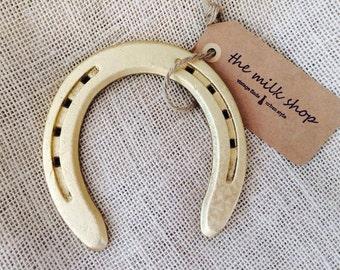 Vintage Gilded Horseshoe