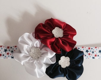 Red white and blue headband
