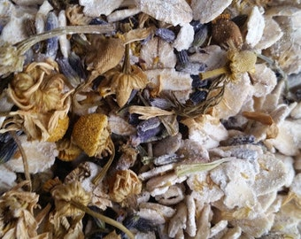 Lavender & Chamomile Oatmeal Bath Tea | 3 Organic Herbal Bath Tea Bags | Oatmeal Tub Tea | Party Favor | Baby Shower | Bridal Shower | 6 oz