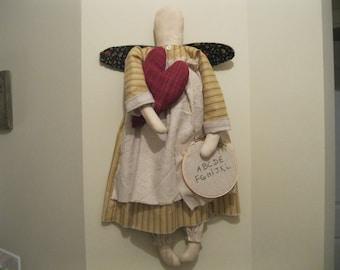 Olde Prairie Angel - Angel Hanging - Doll Wall or Door Hanging