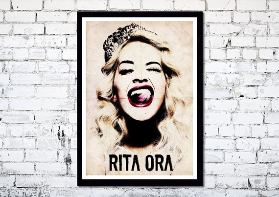 Rita Ora // A3 Abstract Poster Art print // Unique Art // Home Decor Art // Iconic Art