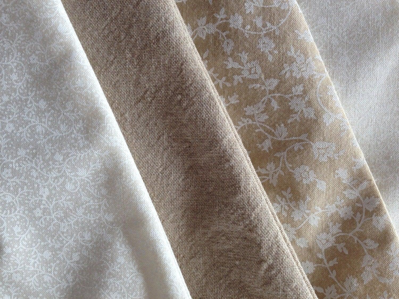 Guirlande de fanions en tissu blanc ivoire beige d coration - Guirlande de fanions tissu ...