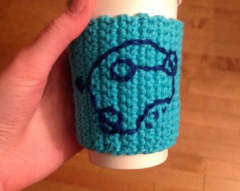 Doctor Who cup cozy, Gallifreyan cup sleeve