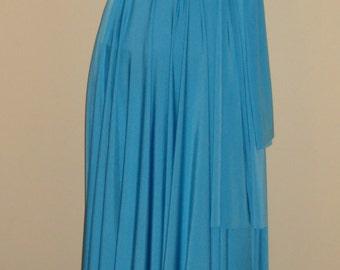 Turquoise bridesmaid dress wedding dress infinity dress convertible dress full length dress twist wrap dress multiway formal party dress