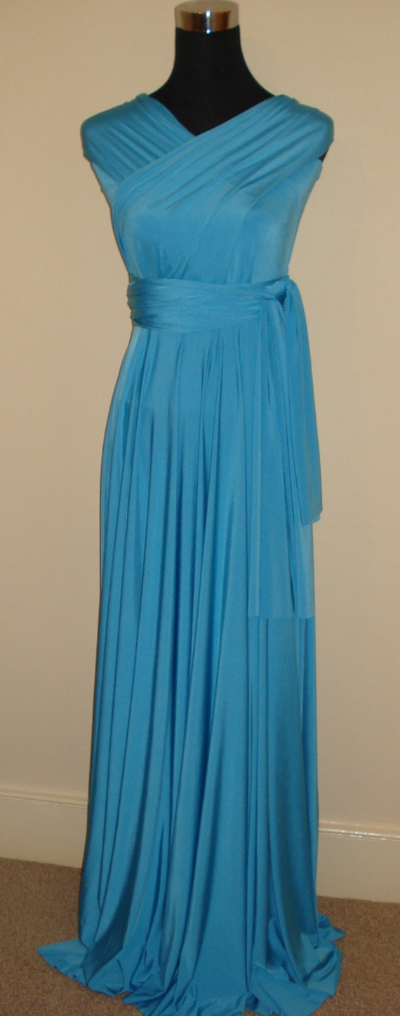 Turquoise bridesmaid dress wedding dress infinity dress like this item ombrellifo Choice Image