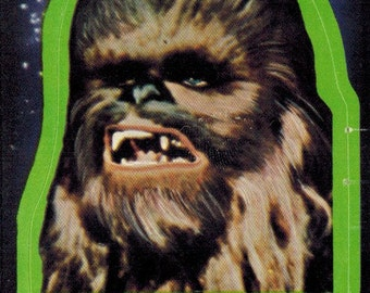 1977 OPC O-Pee-Chee Star Wars Series 1 (Blue) Non Sport Trading Card Sticker Insert : #4 Chewbacca The Wookie