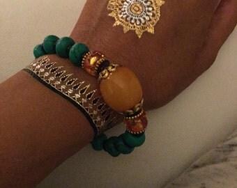 Yoga Crystal Beads Bracelet