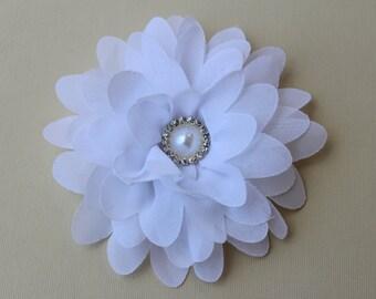 White Flower girl bows flower girl white hair piece wedding headband toddler girls hair bow white hair bows Christmas hair bows for girls