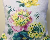 Pillow Covers, Watercolor Floral Pillow Cover, Floral Pillow Cover,Watercolor, Cushion, Watercolor Flower Pillow, Pillowcase,18x18 size