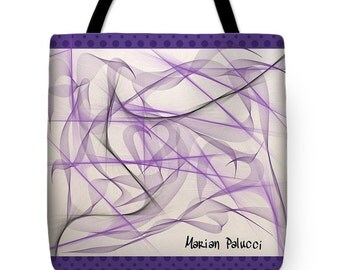 Purple Bliss Tote Bag by artist Marian Palucci