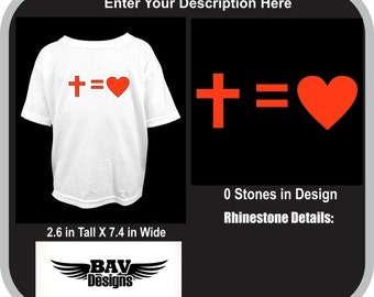 Cross equals Love Custom T-Shirt