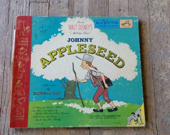 Walt Disney Johnny Appleseed, Records, Vintage Book