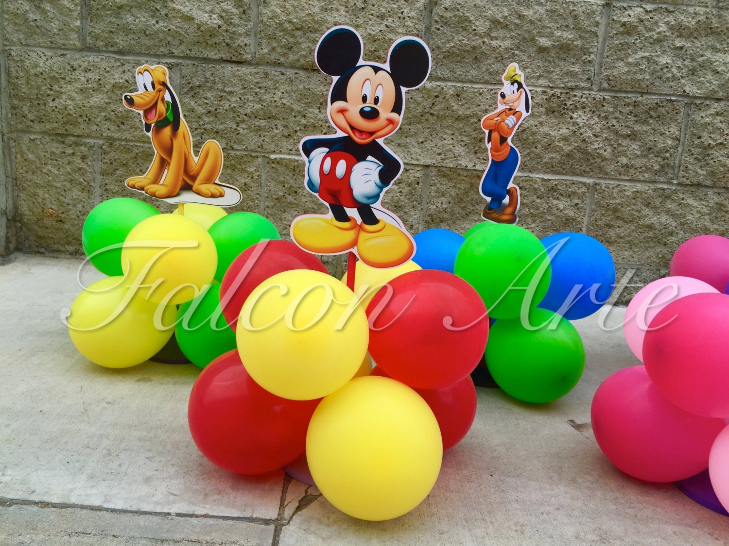 Mickey Mouse Clubhouse Balloon Birthday Party Guest Table