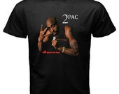 2pac Tupac All eyez on me Black T-Shirt Deathrow Double CD