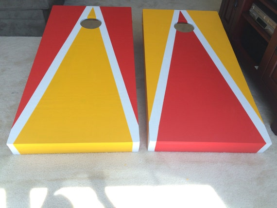 Custom Made Regulation Size Cornhole Boards With Folding Legs