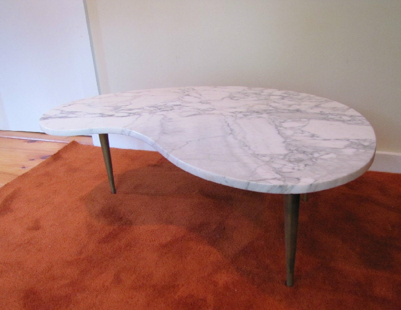 Kidney Shaped Coffee Table Italian Marble Top Coffee Table