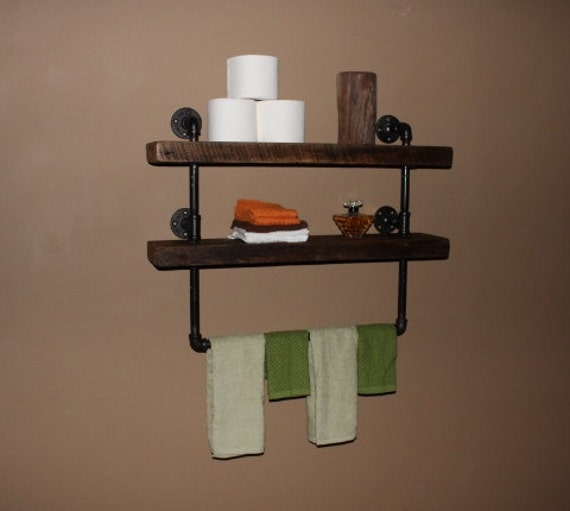 Pipe Shelves Kitchen: Industrial Pipe Shelf Bathroom Shelves Kitchen By