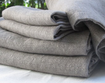 Three Piece Bath Towel Set - Natural Linen Bath Towels - Natural Belgian Linen -