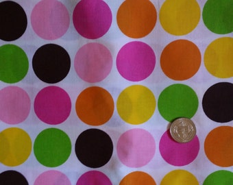 100% Cotton Colorful Circles Fabric by the yard