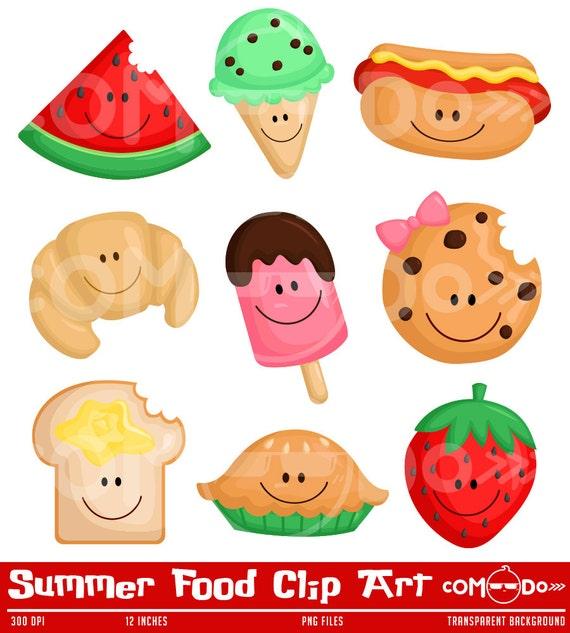 50%OFF Summer Food Clipart Cute Clipart Food Clipart Fun